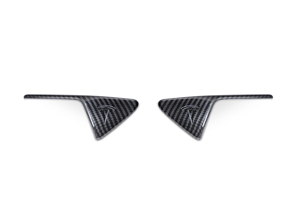 Carbon Fibre Side Camera Covers - Model 3/S/X/Y