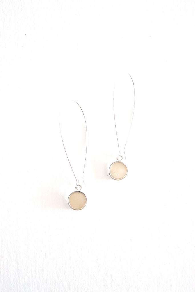 Angie Earrings - Silver Bone