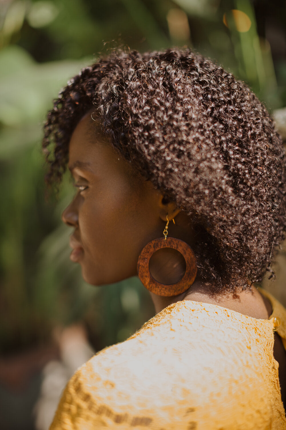Makaya Earrings - Mahogany