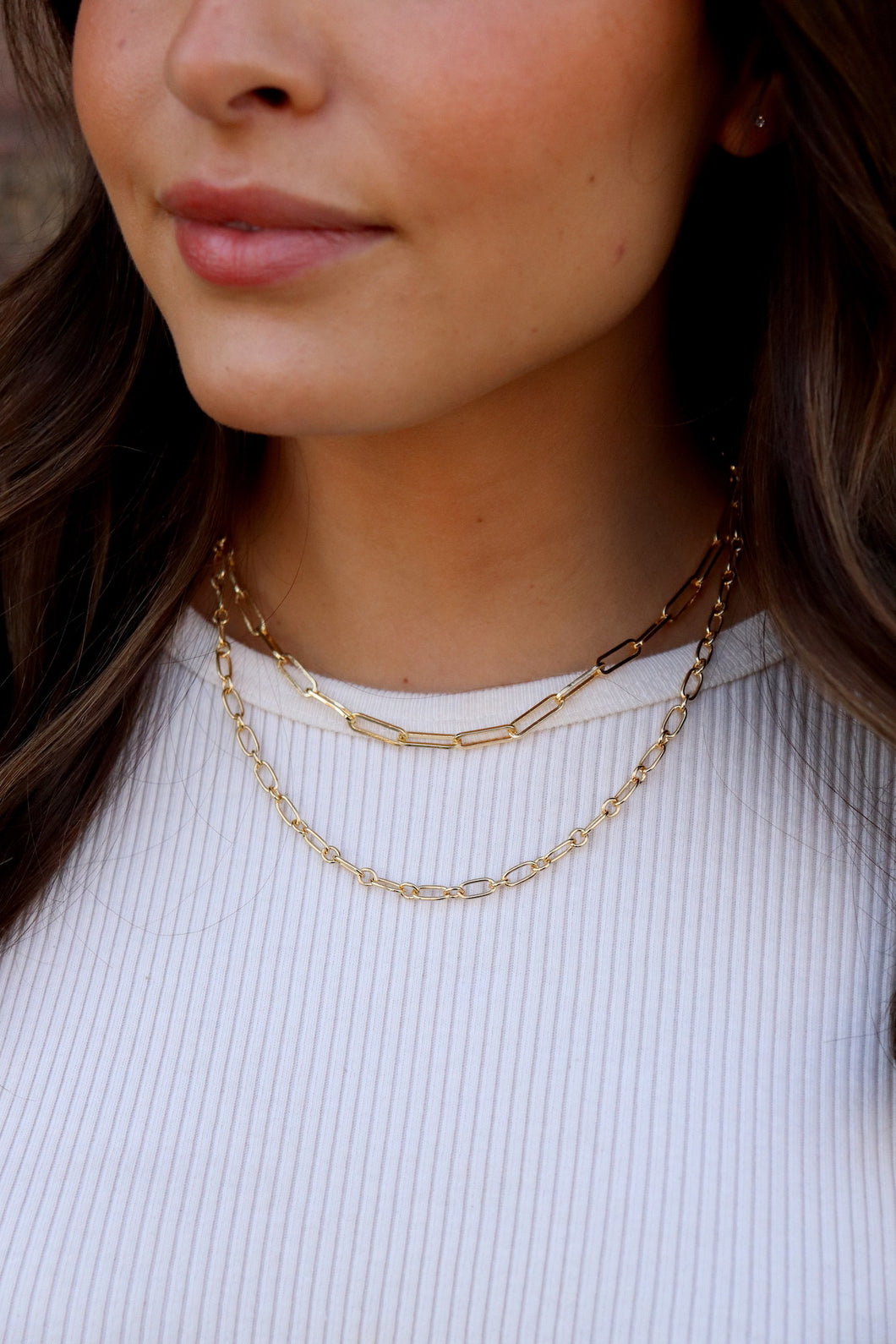 Gold Chain Layered Set