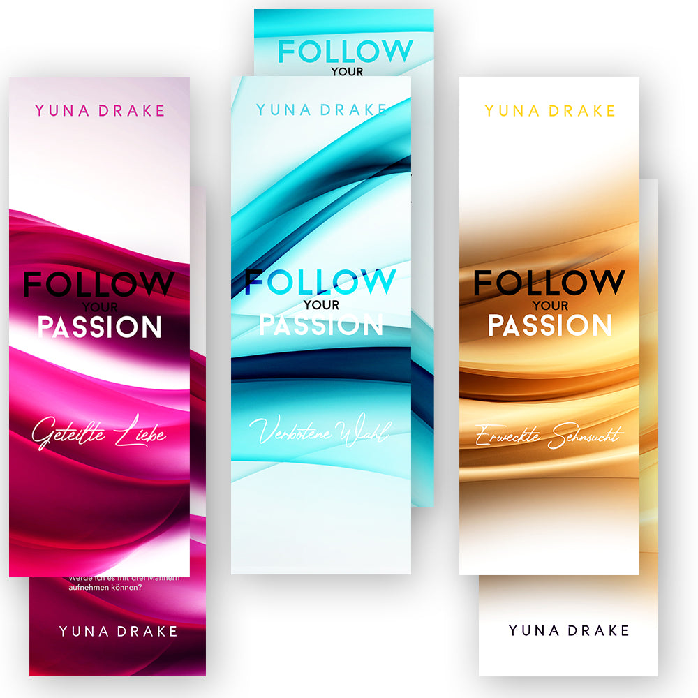 Lesezeichen-Set | FOLLOW your PASSION | neues Design