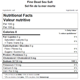 Fine Dead Sea Salt Nutritional Facts