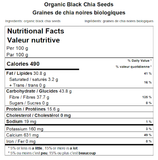 Organic Black Chia Seeds Nutritional Facts
