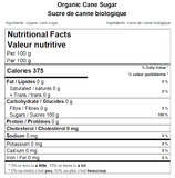 Organic Cane Sugar Nutritional Facts