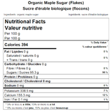 Organic Maple Sugar (Flakes) Nutritional Facts