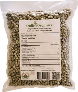 Organic Whole Green Peas