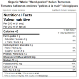 "Organic Whole ""Hand-peeled"" Italian Tomatoes Nutritional Facts"