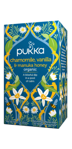 Chamomile, Vanilla & Manuka Honey Tea Bags