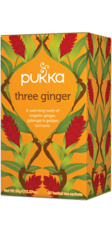Three Ginger Tea Bags