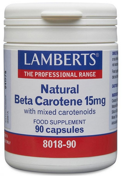Natural Beta Carotene 15mg