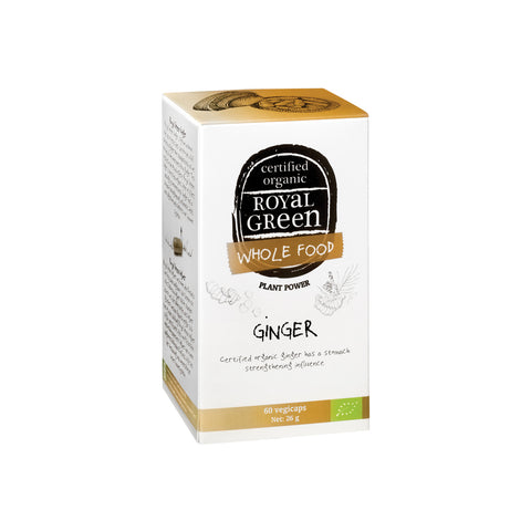 Whole Food Ginger Capsules