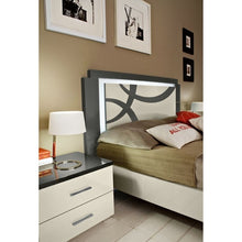Load image into Gallery viewer, Micol White & Grey High Gloss Bedside Table