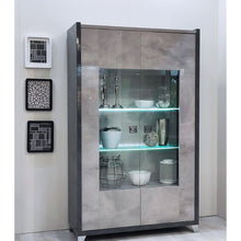 Load image into Gallery viewer, Hilton Two Door Display Cabinet with LED Light