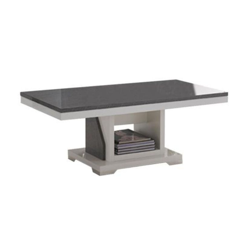 Ascot White Grey Gloss Coffee Table