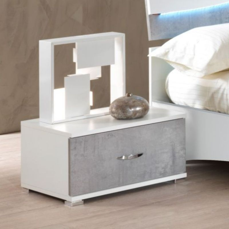 Larissa High Gloss White Bedside Table