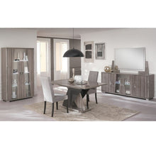 Load image into Gallery viewer, Glamour Walnut High Gloss 4 Door Sideboard with LED Light