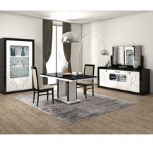 Load image into Gallery viewer, Bellevue Black and White 4 Door Sideboard with LED Lighting