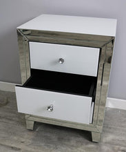 Load image into Gallery viewer, Bianco Three Drawer Bedside Unit