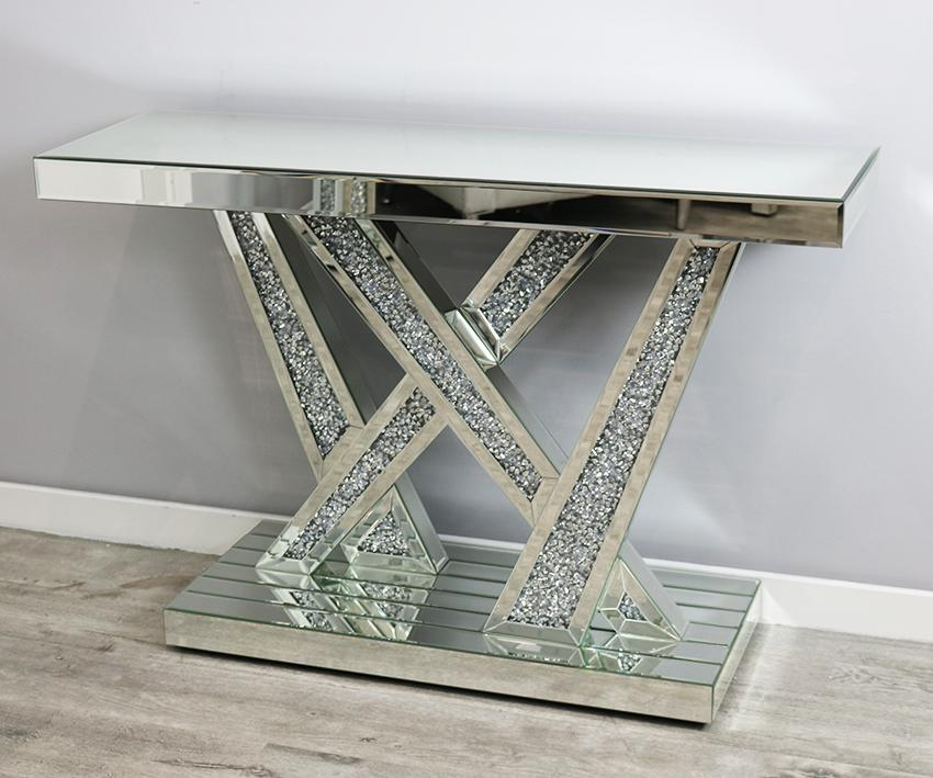 Mocka Stitch Console Table