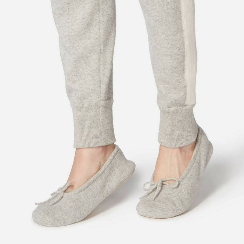 Cashmere Slippers in Fumo Grey