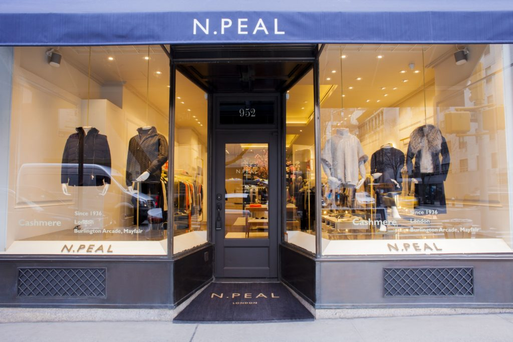 N.Peal store front New York