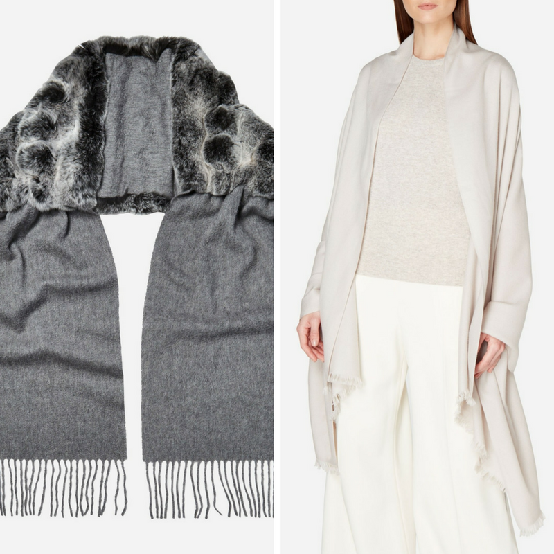 N.Peal Cashmere Scarf in Grey