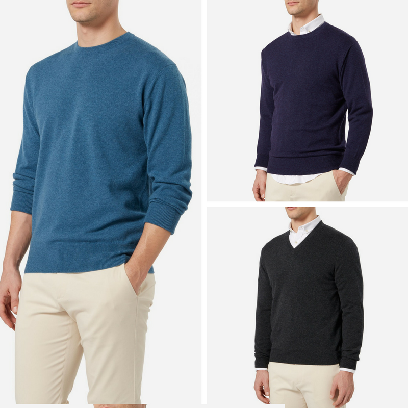 N.Peal Crew Neck Cashmere Jumpers as Worn by James Bond