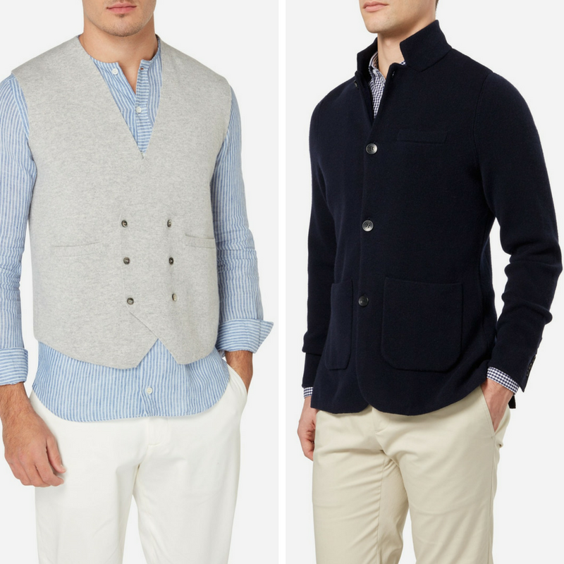 N.Peal Double Breasted Cashmere Waistcoat and Milano Cashmere Jacket
