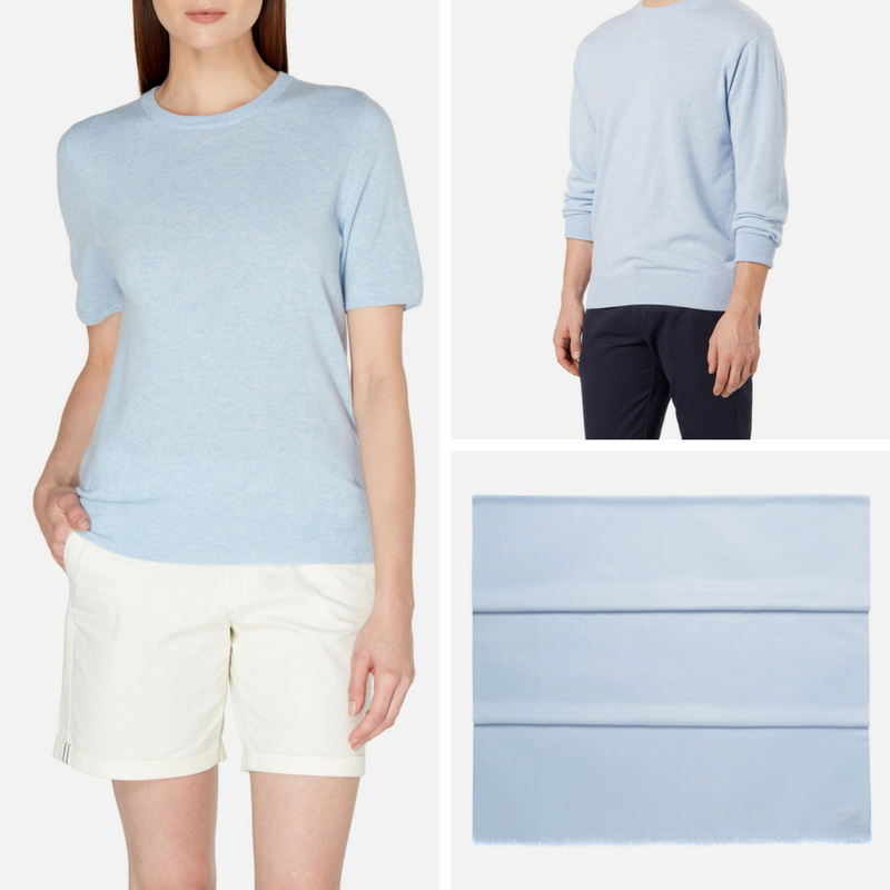 Pale Blue Cashmere at N.Peal