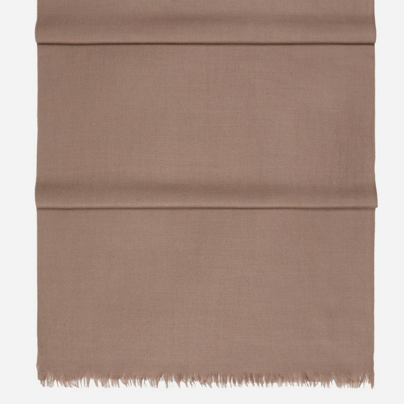 Pashmina Cashmere Stole in Rich Brown