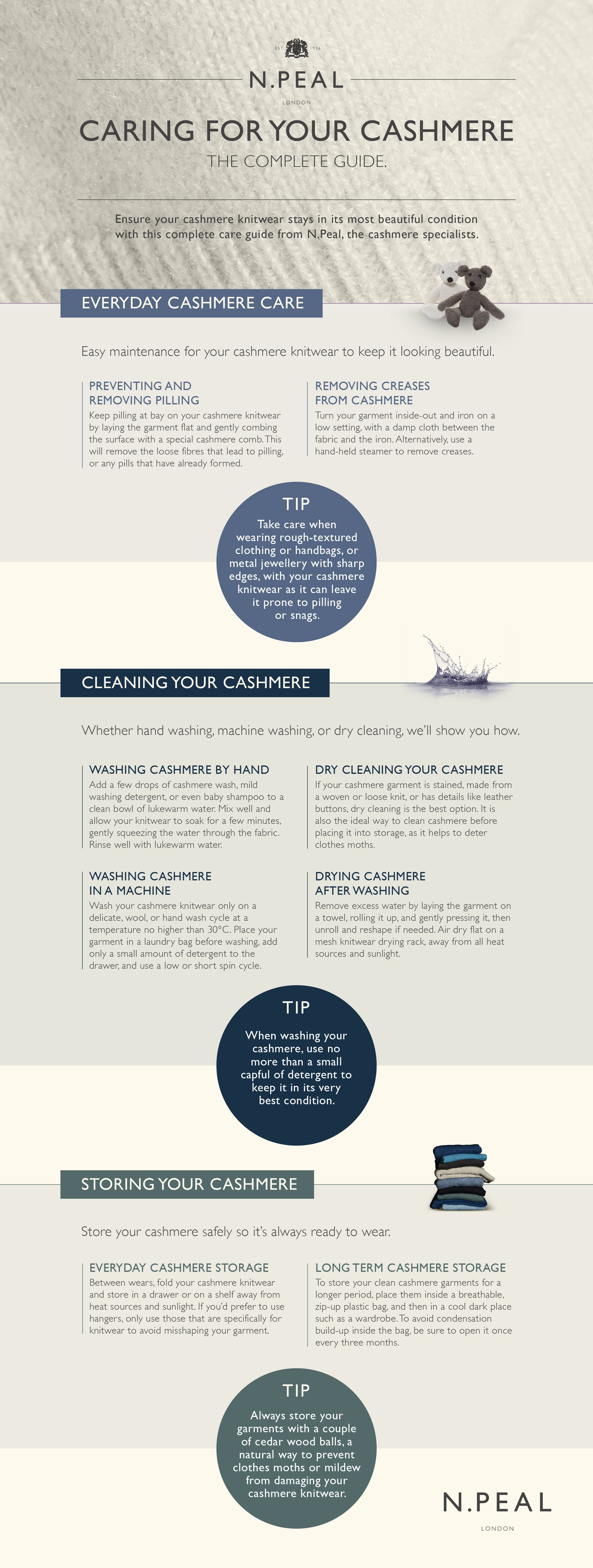 Cashmere Care Infographic from N.Peal