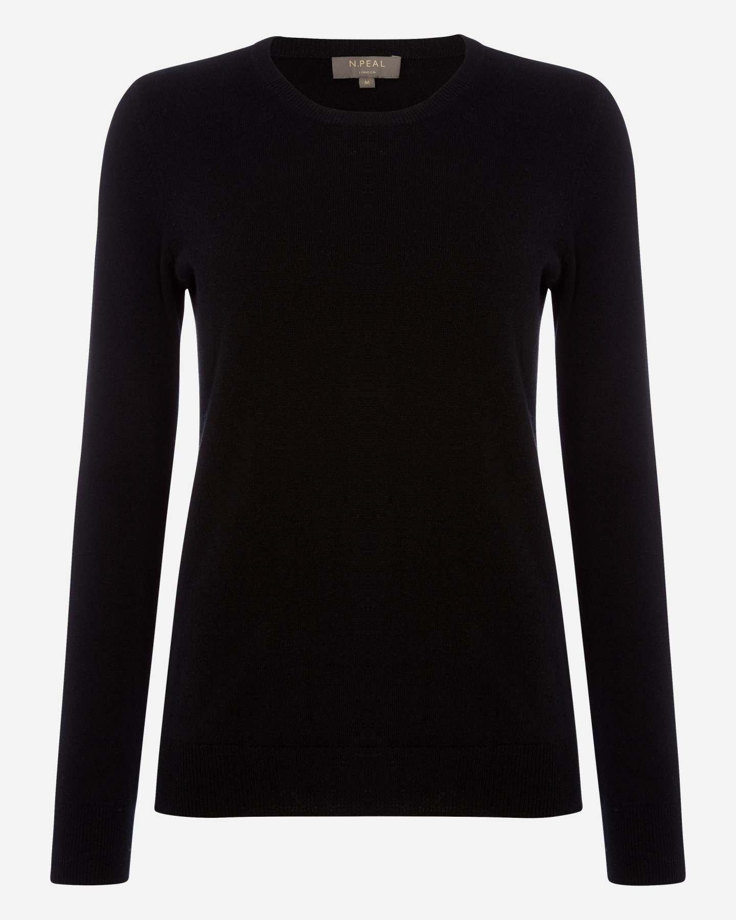Round Neck Cashmere Jumper Black
