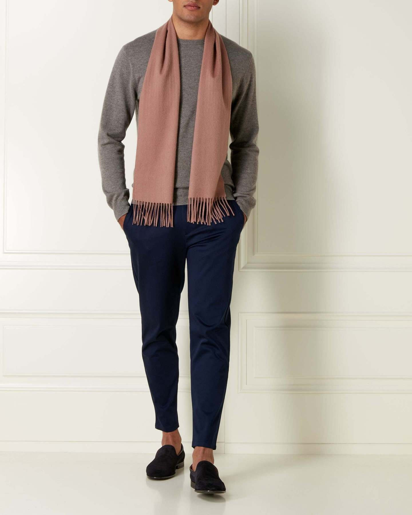 Woven Cashmere Scarf Coconut Brown 2