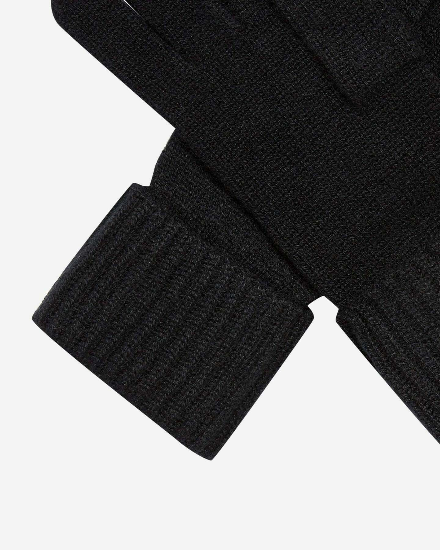 Ribbed Cashmere Gloves Black 2