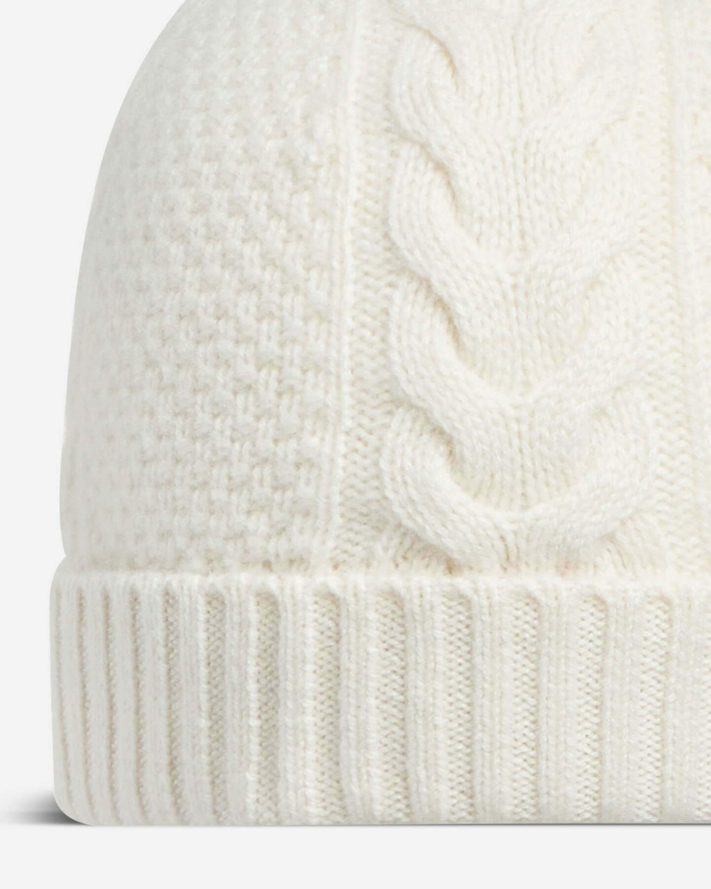 Cable Cashmere Hat New Ivory