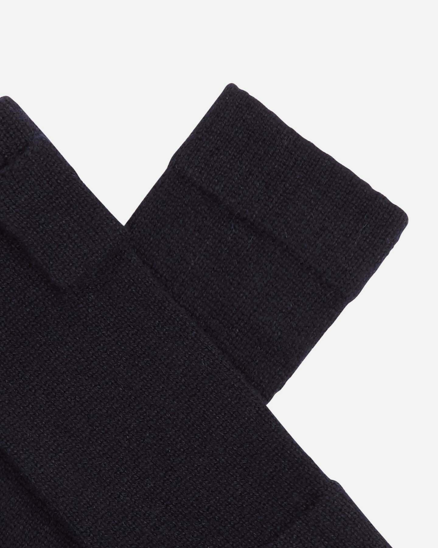 Fingerless Cashmere Gloves Navy Blue