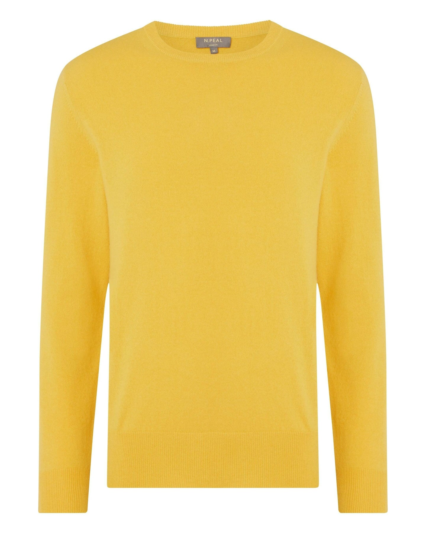 The Oxford Round Neck Cashmere Sweater Rattan Yellow 2