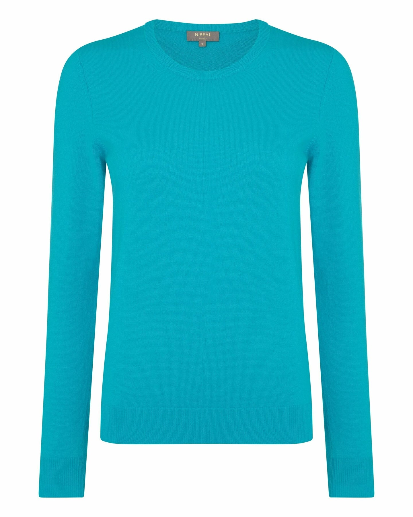 Round Neck Cashmere Sweater Cerulean Blue