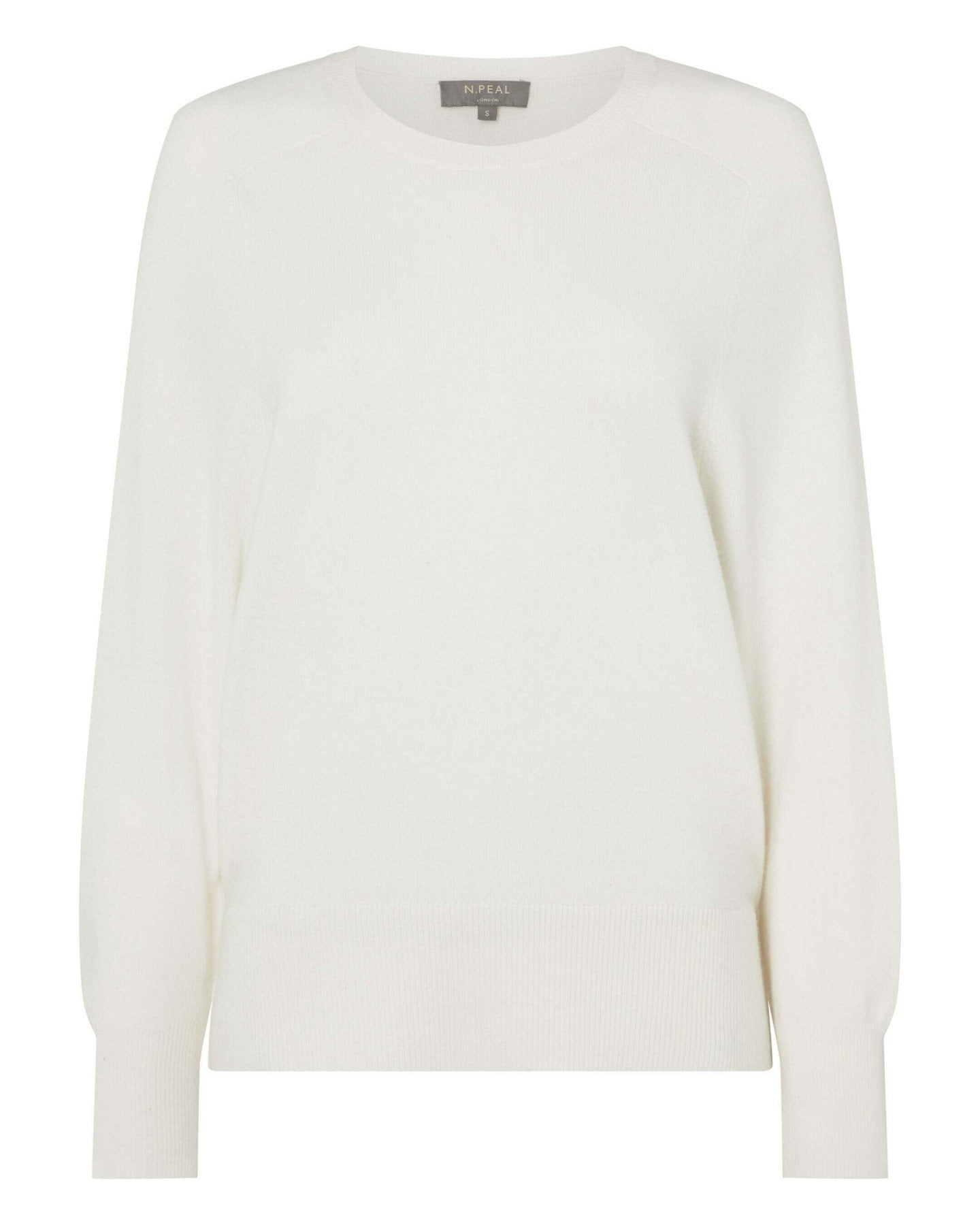 Relaxed Raglan Cashmere Sweater New Ivory White