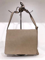 Designer Inspired Light Brown Leather Handbag With Fold Over Flap From Rocco Boutique Dublin.
