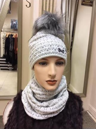Fleece lined hat with snood €39.95