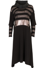 Load image into Gallery viewer, Blush Metallic Striped Dress