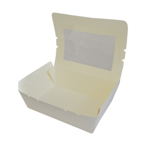 White Meal Box with Window Large | Pack of 50