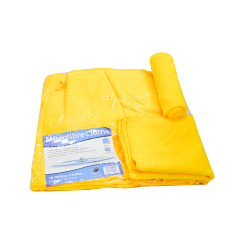 Load image into Gallery viewer, Ecotech Microfibre Cloth Yellow 32X32 10 PCS