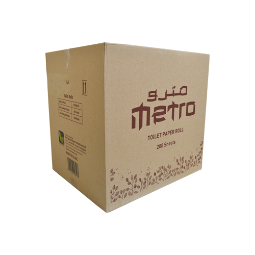 Metro Toilet Roll | 200 Sheets | Pack of 100 Rolls