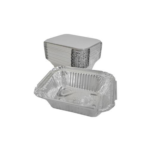 Aluminum Container with Lids 250 CC | 25 PCS