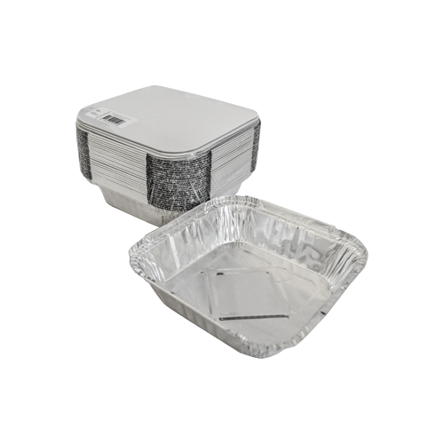 Aluminum Container with Lids 570 CC | Pack of 25