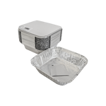 Aluminum Container with Lids 570 CC | 25 PCS