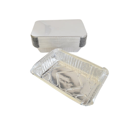 Aluminium Container with Lids | Pack of 25