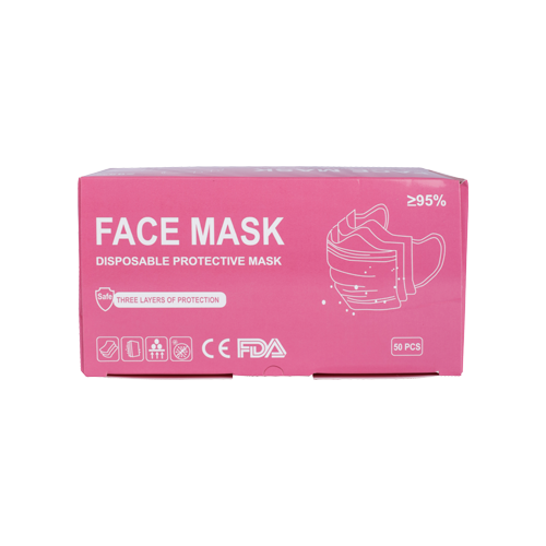 Load image into Gallery viewer, Pink Face Mask 50 PCS